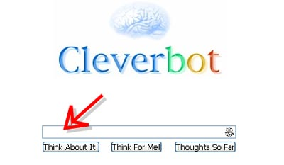 cleverbot入力ボックス