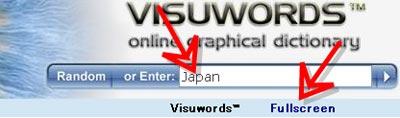 visuwords検索入力例