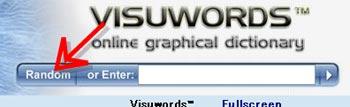 visuwords検索ボックスにあるrandomボタン